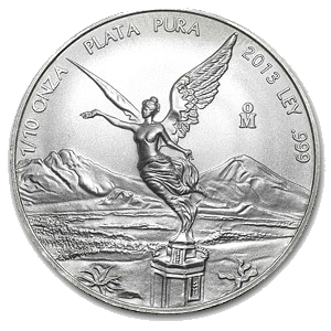 2013 1/10 oz Silver Libertad - Brilliant Uncirculated