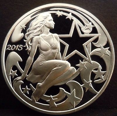 "2015 ""Liberty's Beauty"" 1 oz Silver Proof Medallion"
