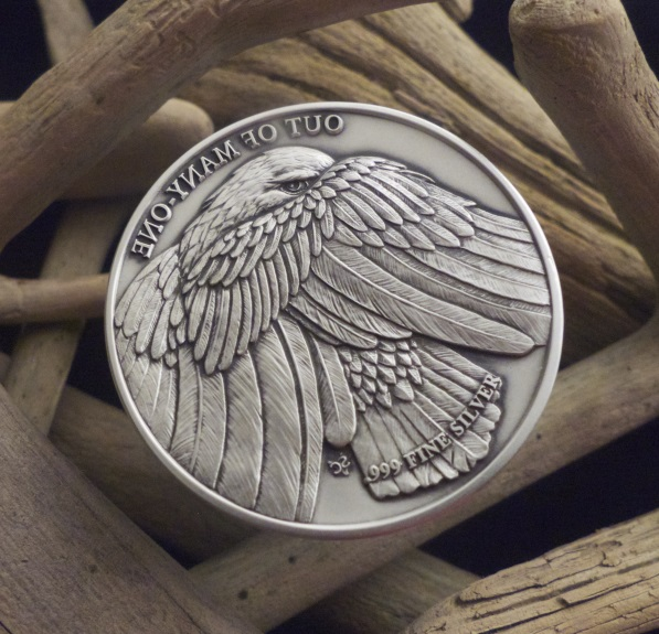 2015 Bald Eagle 2 oz .999 Medal Round Coin Medallion