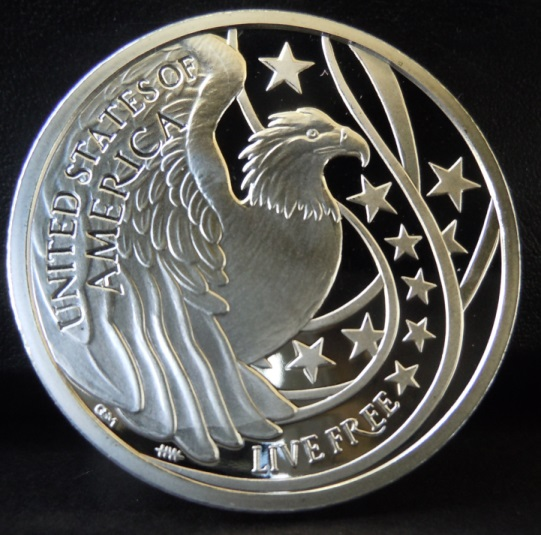 "2014 ""Liberty's Glory"" 1 oz Silver Proof Medallion"