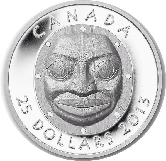 2013 Grandmother Moon Mask - Ultra High Relief Coin